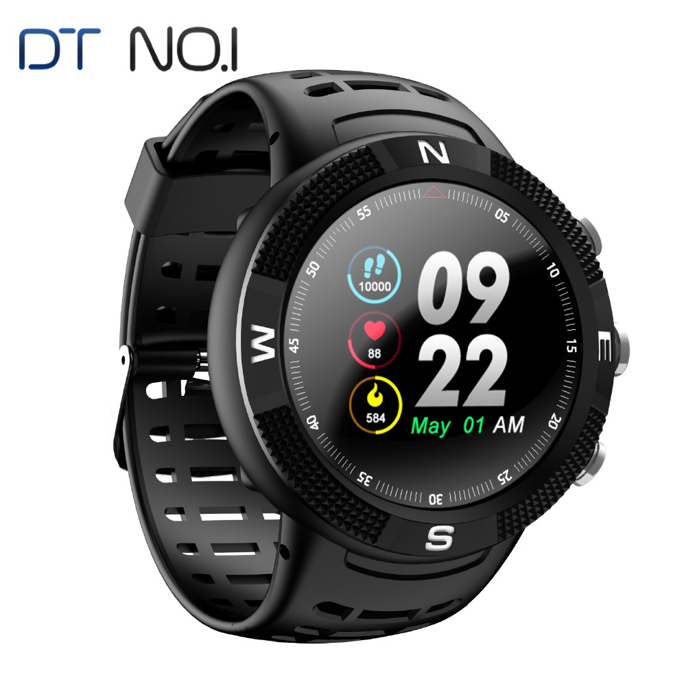 GPS Watch DTNO.I NO.1 F18 Smartwatch Android Compass Bluetooth 4.2 IP68 Waterproof Smart Watch Pedometer Sports Wristwatch New image