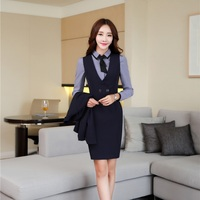 Autumn Winter OL Styles Slim Blazers Suits With Blouses And Dress For Ladies Office Blazer Dress