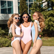 Angel wings solid color and snake pattern with chest pad backless one-piece swimsuit ladies bikini free shipping