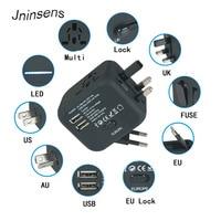 New Universal Travel Adapter Plug Electric Plugs Sockets Converter US AU UK EU With Dual USB
