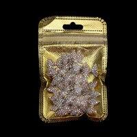 30 sztuk DIY 3D Alloy Dżetów Diament Muszka Nail Art Dekoracje caviar metalu metalowe Plastry nagel steentjes bijoux manucure