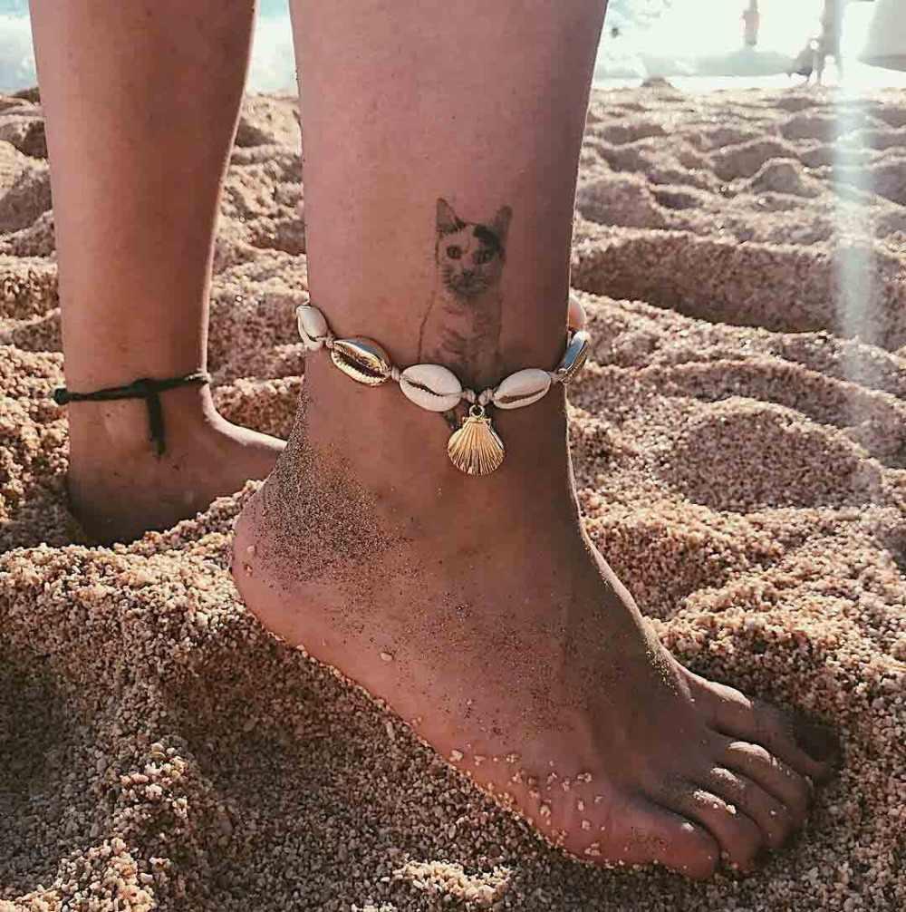 Nowości Anklet biżuteria na stopy muszelki koraliki urocze frędzle plaża tkane proste liny rysuj ręcznie wykonane koraliki plażowe bransoletki na kostki