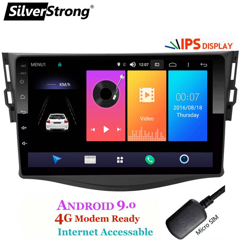 SilverStrong Android9.0 IPS 4G Car GPS for Toyota RAV4 Rav 4 2006  2012 2din 1024*600 gps navigation wifi DSP-in Car Multimedia Player from Automobiles & Motorcycles    2