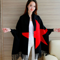 2016Spring and Autumn fashion knit Women zip-up Europe and the United States shawl sweater Leisure coat Tassel Scarf Collar 1856
