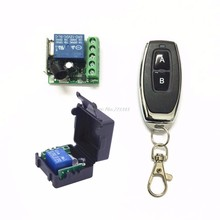 DC 12V 1CH Relay Receiver Module RF Transmitter 433Mhz Wireless Remote Control Switch(China)
