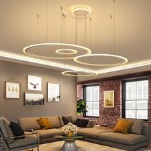Black/Brown/white Diy Modern led Chandelier For living room Dining ledlamp suspension luminaire modern chandelier Lighting