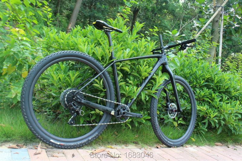 60f6466c2 Full frame de carbono mtb mountain bike ciclismo quadro 142x12 Através do  eixo e 135x9 QR