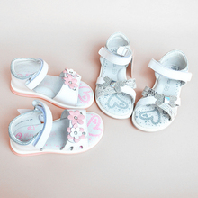 Супер качество, 1 пара, ортопедические сандалии из натуральной кожи для девочек, нескользящая детская обувь+ внутренняя часть 12,8-16,2 см, детская обувь