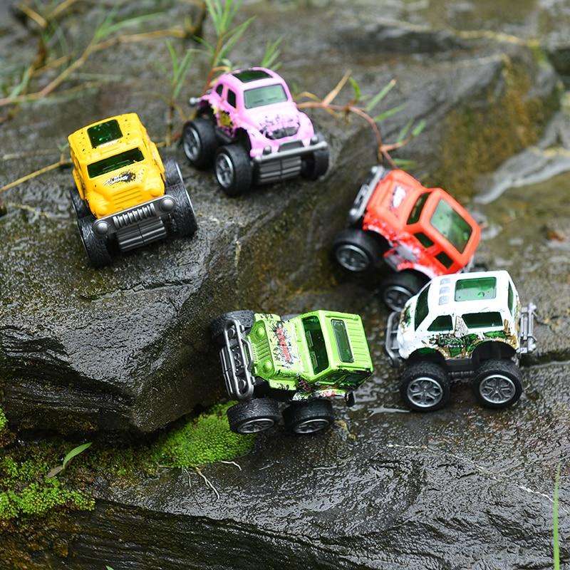 Happy Monkey 2018 New Mini pull back Car Alloy Cartoon Shatterproof Baby Kids Toys Car Model Gift Toy for Baby Kids Birthday