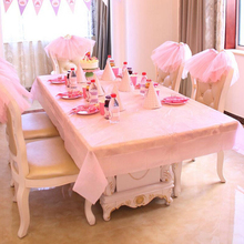 1 PC 137CM*183CM Solid Color Table Cloth New Year Party Theme Wedding Mermaid Tablecloth Merry Christmas Tablecloths