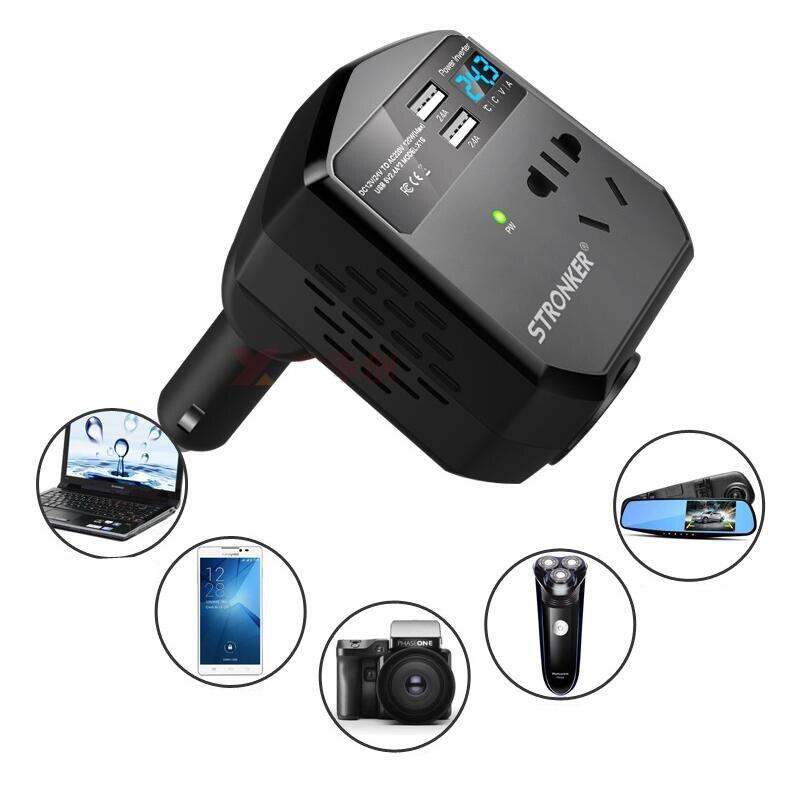 Samochodowa przetwornica napięcia USB ładowarka 12 V/24 V do 220V konwerter wyjściowy przejściówka akcesoria samochodowe wysoka ochrona napięcia