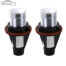 2Pcs 3W White Car LED Angel Eyes Halo Automobiles Light-emitting Diode Headlight Headlamp Bulbs for BMW E39 E59 E53 E87 E60 E65