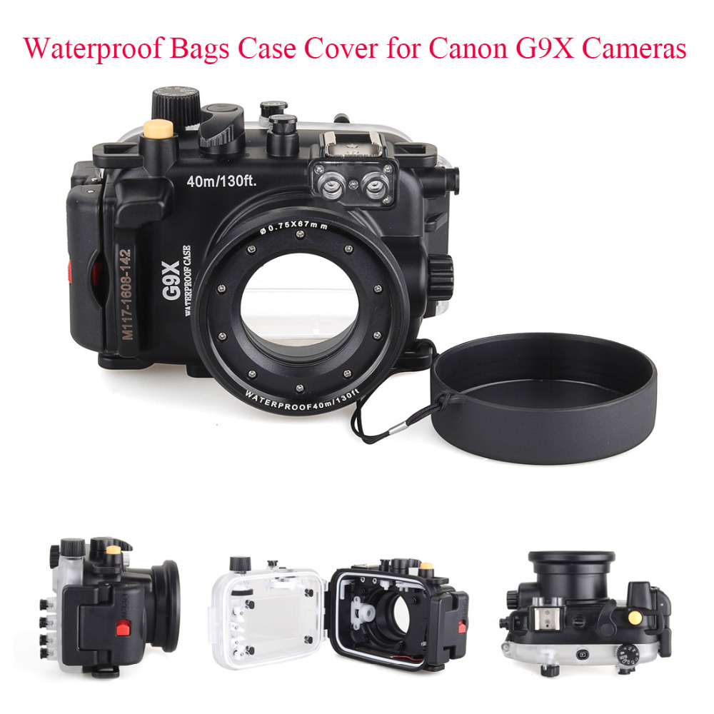 все цены на Meikon 40m/130ft Underwater Diving Camera Housing Case for Canon G9X,Camera Waterproof Bags Case Cover for Canon G9X Cameras