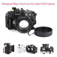 Meikon 40m/130ft Underwater Diving Camera Housing Case for Canon G9X,Camera Waterproof Bags Case Cover for Canon G9X Cameras