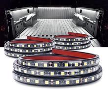 "MICTUNING 3pcs 60 ""LED עמיד למים משאית מיטת אורות לבן תאורת ערכת דקורטיבי מנורת רצועות אוניברסלי עבור סירות RV מטען טנדר"