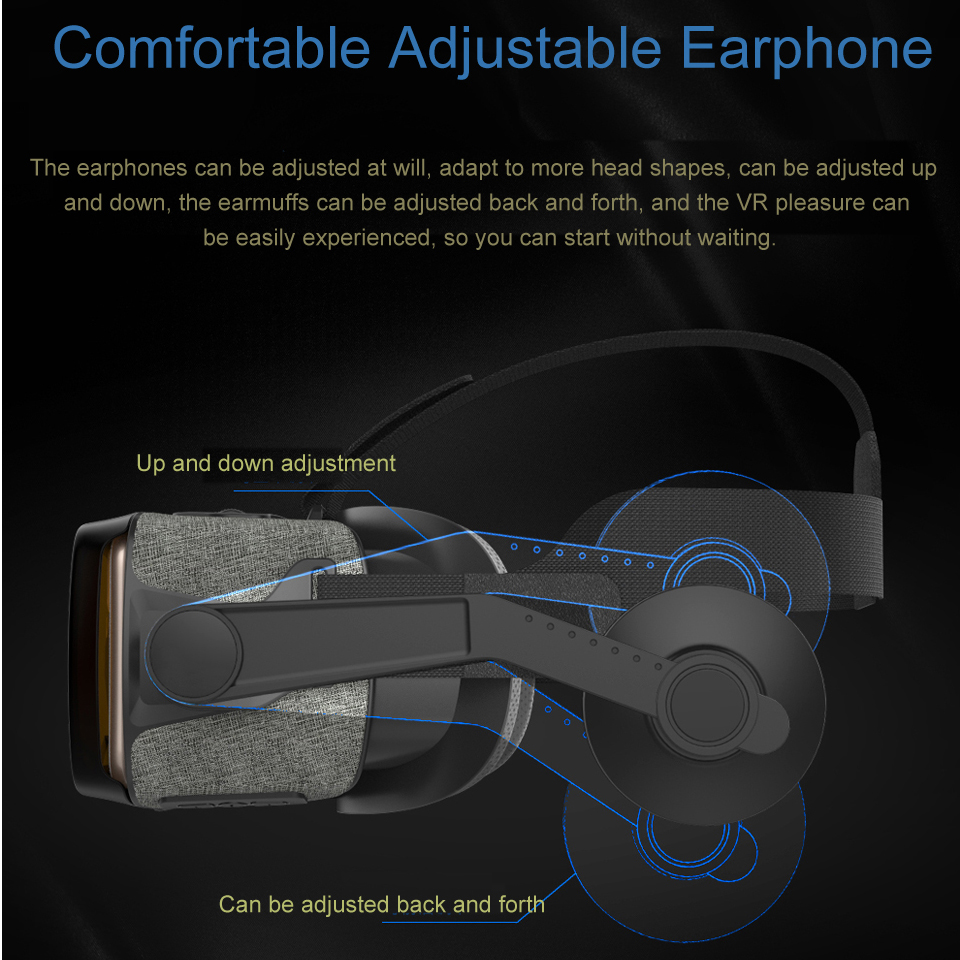3D Glasses Virtual Reality TV Television Theater VR Glasses Headset Len Mirror For Samsung Iphone 4.7inch To 6.0inch Play Games