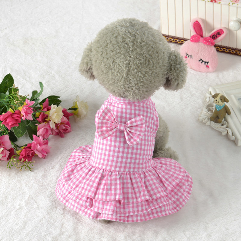 Refined Summer Dog Dresses Lattice Style Dress outfit for ...