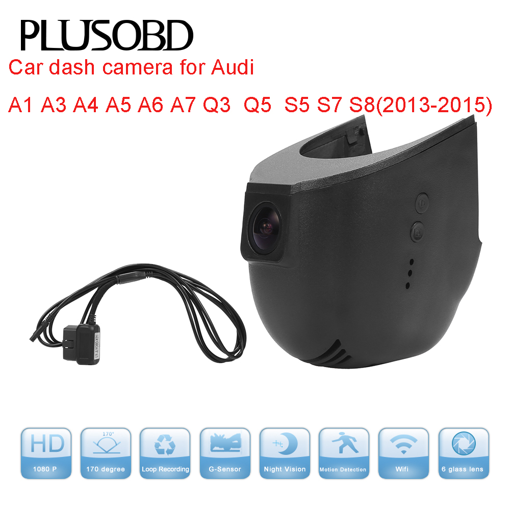 Auto DVR Dash Cam pro Audi Car (rok2013-2015) S5 S7 S8 / A1 A3 A4 A5 A6 A7 Q3 Q5 s připojovacím kabelem OBD