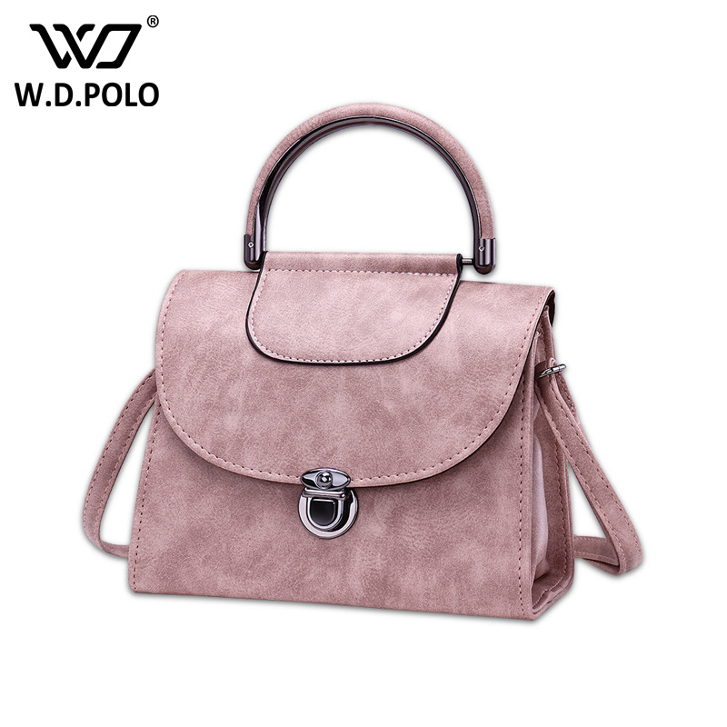 WDPOLO New PU Leather candy color women handbags stylish design long strap lady shoulder bags high chic bags for female C384