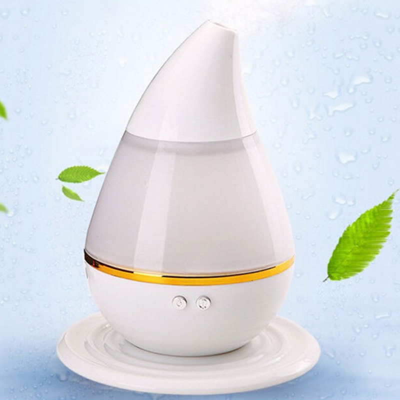 200ML USB Ultrasonic Humidifier Colorful LED Night Light  Mini Essential Oil Aroma Diffuser For Home Office Mist Maker Health colorful waterdrop cartoon ombre led night light