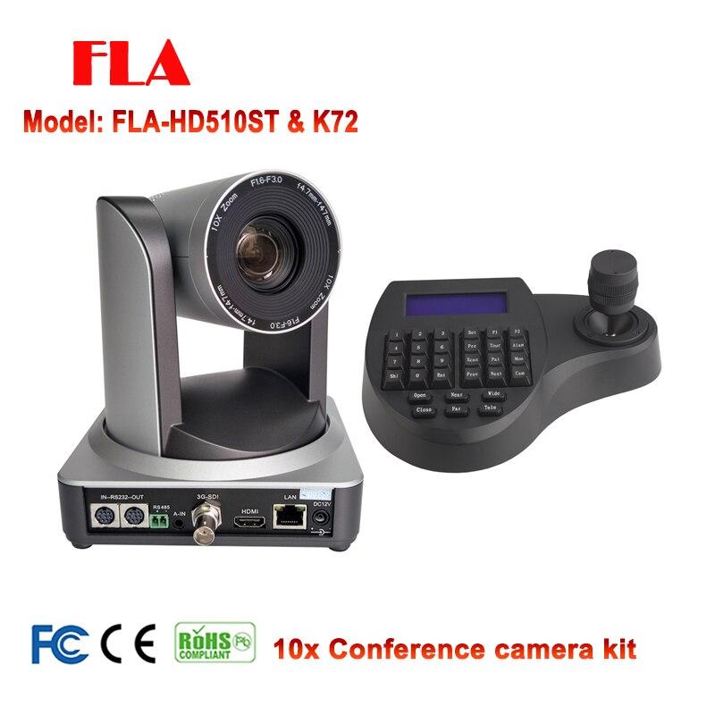 1080P60 Système de Vidéoconférence Kit 10X PTZ Caméra IP HDMI SDI avec mini ptz contrôleur intelligent