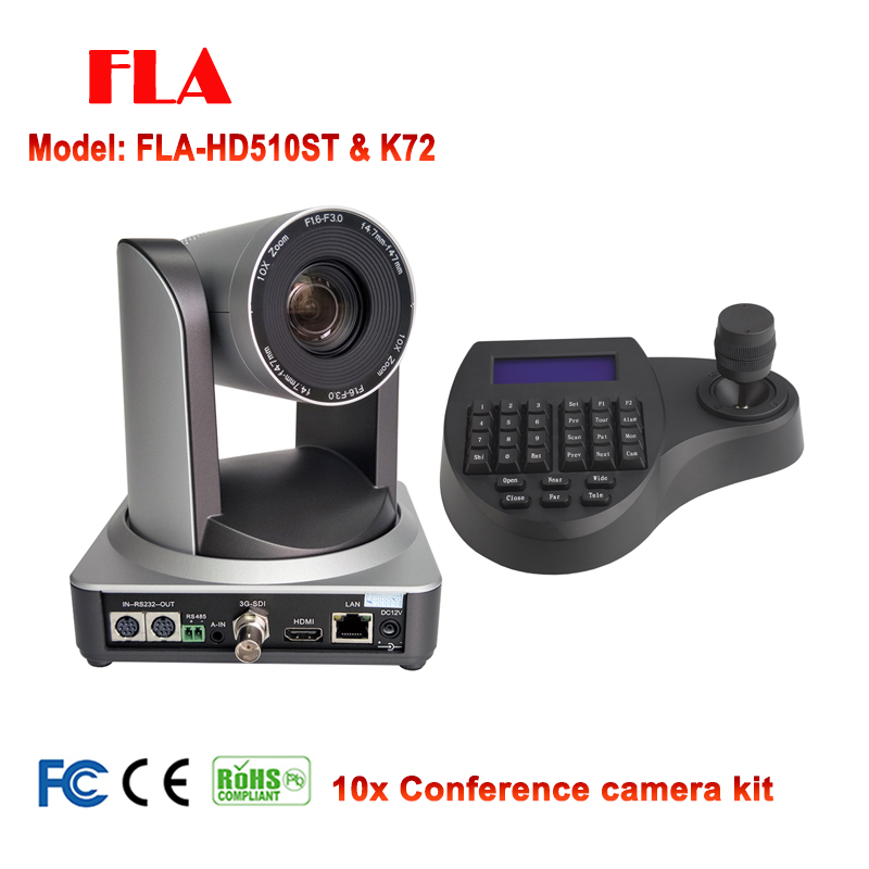 1080P60 Video Conference System Kit 10X PTZ Camera IP HDMI SDI with mini ptz intelligent controller-in Surveillance Cameras from Security & Protection    1