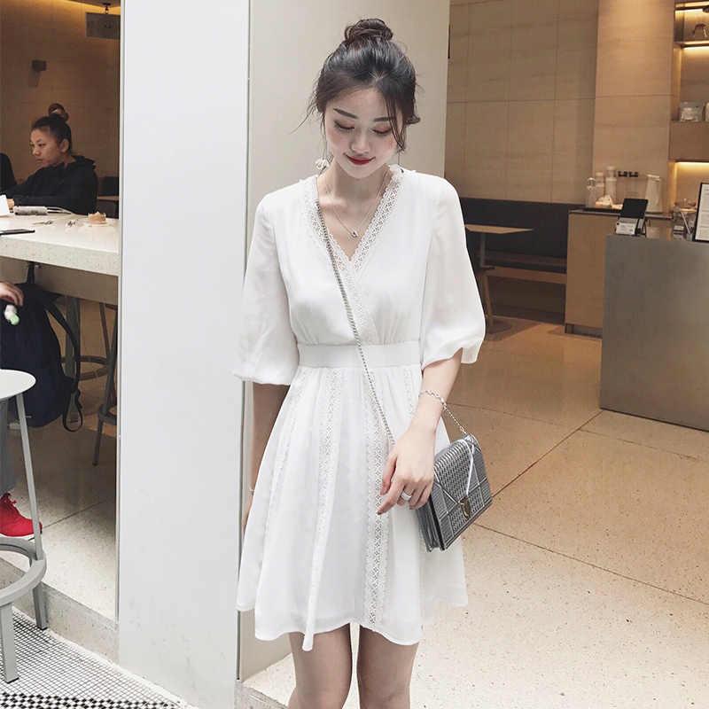 Женские платья для беременных, Летние шифоновые модные пляжные белые платья для кормящих грудью, Одежда для беременных, Vedtidos Para Mujer