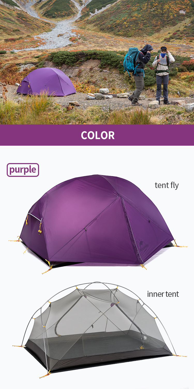 acampamento dupla camadas 2 pessoa ultraleve tenda