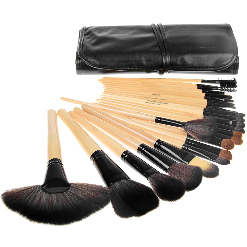 Vander Professional 32Pcs Makeup Brush Set Foundation Cosmetic Powder Multifunction Toiletry Brushes Make Up Brushing Kits Bag retractable cosmetic makeup powder multifunction brush claret red