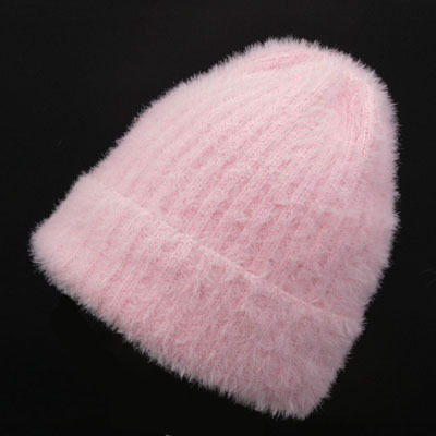 autumn and winter season knitting caps Mohair material for women warm hat leisure simple lady   Skullies     Beanies   High quality hat