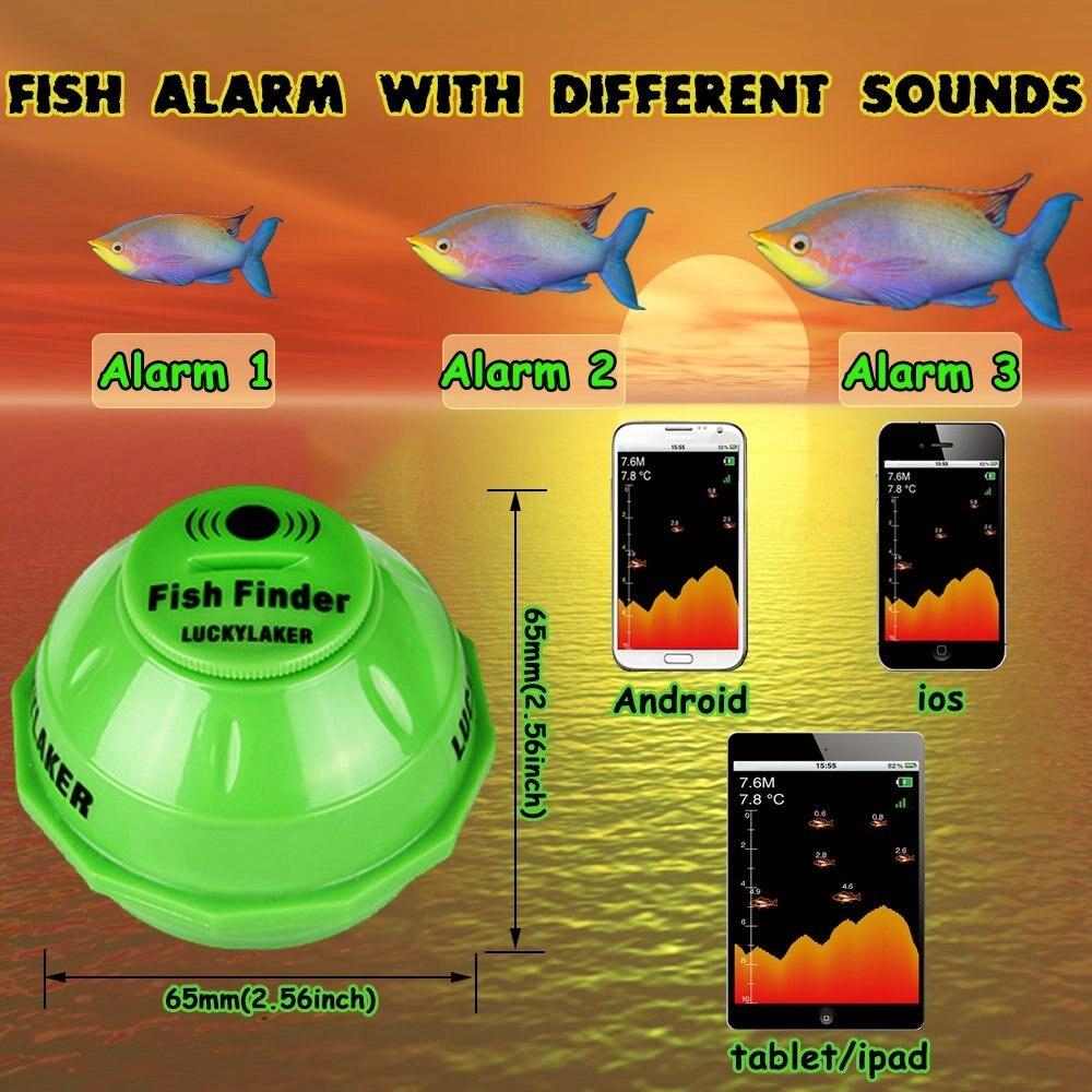 Menu de Russo! Profundidade Fishfinder Transdutor 2-em-1 Wired