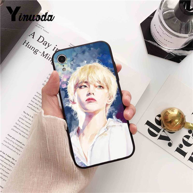 Yinuoda Bts bangtan boys shiny DIY Painted Phone Case for iPhone 8 7 6 6S 6Plus 5 5S SE XR X XS MAX Coque Shell