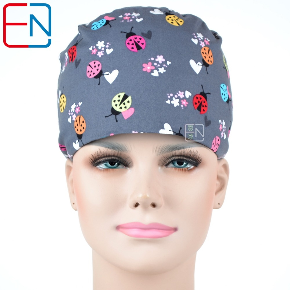 Hennar Brand Scrub Caps Medical Surgical Adjust Size Freely Dentist Scrub Caps With Masks Perfect Sewing For Doctor Caps Unisex