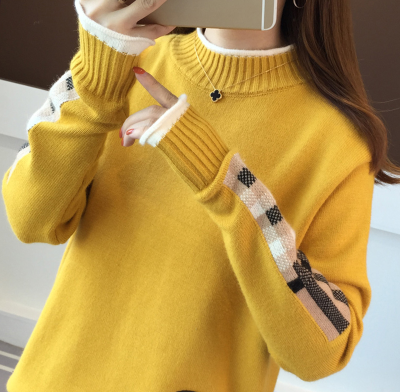 2018 Autumn Maternity Breastfeeding Sweater for Pregnant Women Fashion Soft Knitting Lactation Sweater Nursing Pullover Tops