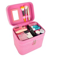 Women Makeup Cosmetic Case Organizer Large Capacity Waterproof Double Layer Professional Makeup Beauty Tattoos Cosmetic Bag