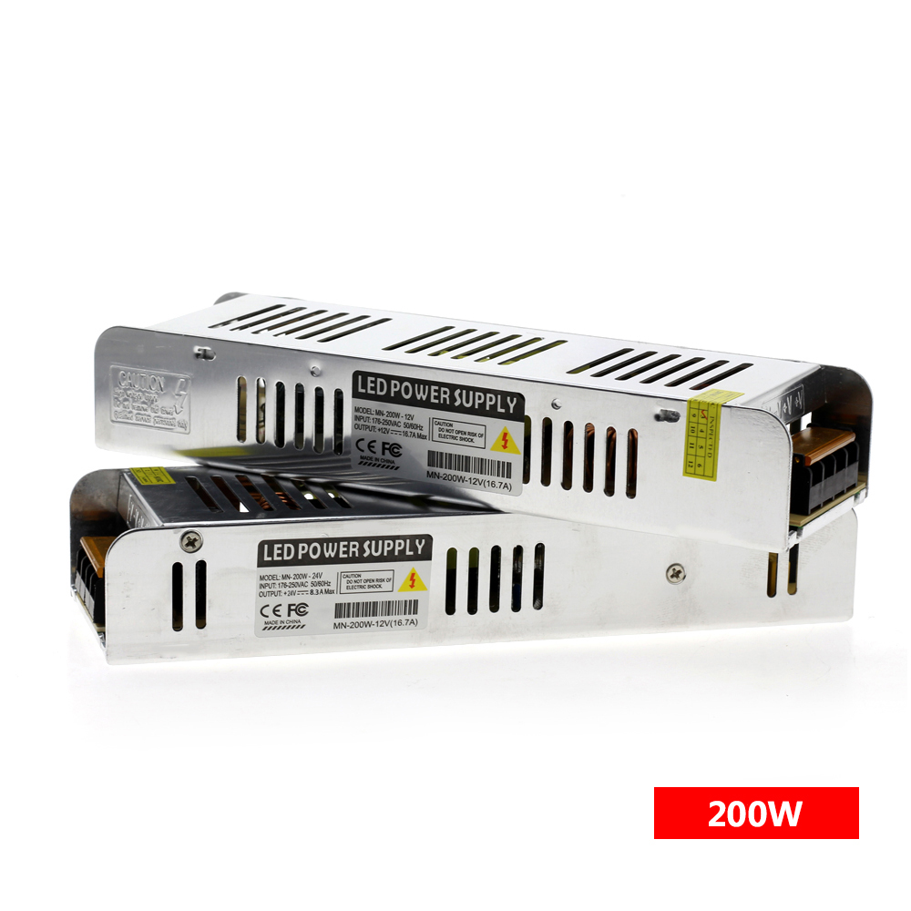 LED Driver Power Supply AC220 To DC12V / DC24V 60W 120W 200W 250W 360W LED Adapter Lighting Transformers