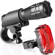 Bike Light Set Super Bright LED Lights for Your Bicycle - Easy to Mount Headlight and Taillight with Quick Release System