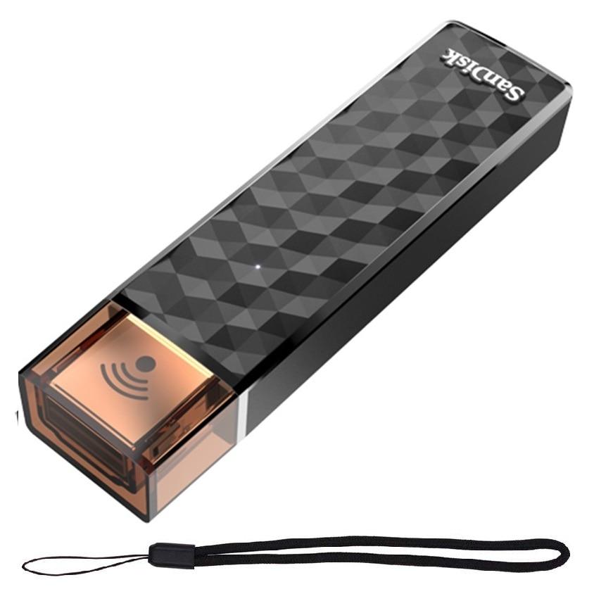 SanDisk Wireless Stick USB Flash Drive 16GB 32GB Wifi Usb Pen Drive 64GB 128GB 200GB pendrive SDWS4 Wi-Fi USB 2.0 USB Stick sandisk cz430 usb 3 1 usb flash drive 64gb mini pen drive 128gb pendrive 32gb memory usb stick 256gb storage device u disk 16gb