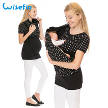 Peeking baby top maternity breastfeeding clothes for pregnant women funny nursing tshirt tee D20