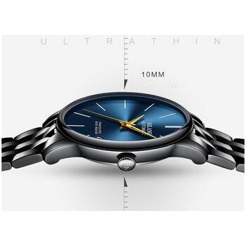 Elegant British Wind Men Business Statement Watches Fashion Blue Mechanical Watch Self-winding 316L Steel Wrist watch Calendar