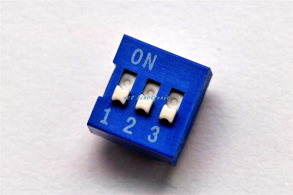 3P DIP 3 level toggle switch pitch 2.54MM Blue coding dial switch data-chosen-switches