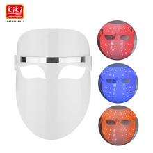 32 LED'er Ansigtsmaske Rød blå orange farve Photon Electric Skin PDT Forøger blodcirkulationen Aflaster stress på huden