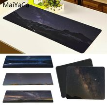 MaiYaCa Milky Way Galaxy Bulge Above Mountain Large Mouse pad PC Computer mat Size for 18*22 20*25 25*29 30*90 and 40*90cm