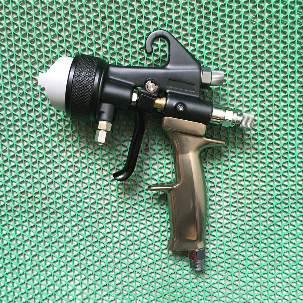 SAT1205 high quality dual nozzle spray gun pneumatic paint sprayer high pressure professional spray car painting airbrush tools sat1216a professional high quality mini spray gun for car painting nozzle 0 8mm machine pneumatic tools