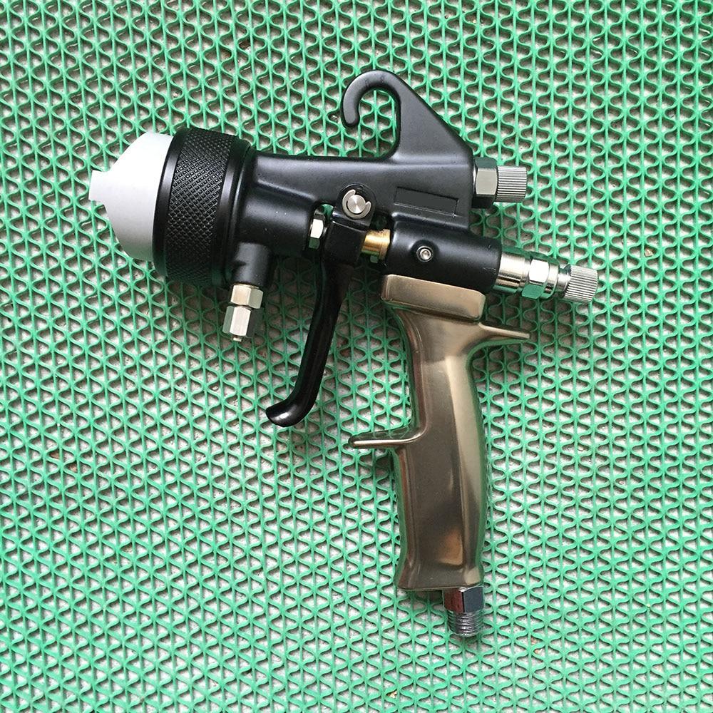 цена на SAT1205 high quality dual nozzle spray gun pneumatic paint sprayer high pressure professional spray car painting airbrush tools