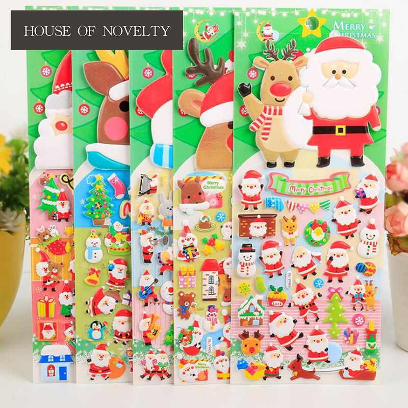 Kindly Christmas Santa Claus 3D Decorative Stickers Adhesive Stickers DIY Decoration Diary Stickers outdoor christmas decoration inflatable santa claus 20ft high 6m high factory direct sale bg a1188 toy