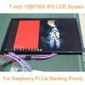 7 polegada 1280*800 450cd Raspberry Pi 3 IPS LCD Com HDMI Módulo de Exibição na Tela Do Monitor Do Carro VGA AV Apoio Prioritário Com Teclado