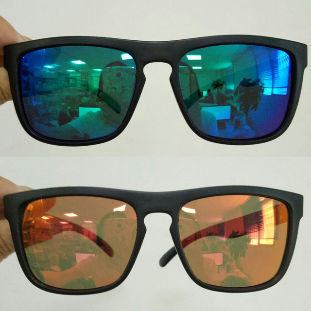 Men Polarized TR90 Sunglasses Vintage Anti-UV Driving Driver Black Goggles Eyewear Rectangle Shades Men Oculos masculino Male 6