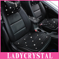Ladycrystal Luxury PU Leather Car Seat Cushions Diamond Crystal Auto Car Seat Covers For Girls Ladies Women