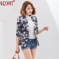 YESVVT 2017autumn New Product Women Blazers And Jackets Casual Floral Blazer Suit Jacket Woman Office Lady